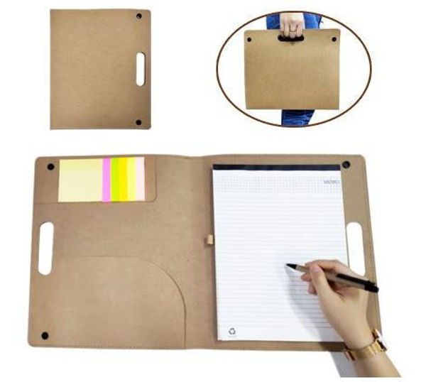 Picture of Recycled Conference Folder w/notepad, sticky notes & Pen