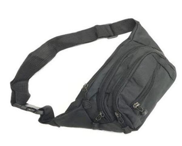 Picture of 300D Melange Nlyon Waist Pouch  w/4 zip compartments