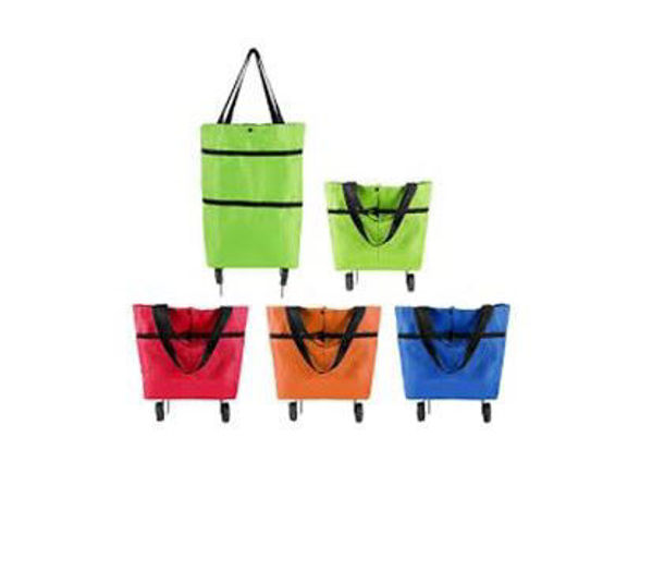 Picture of Expandable Trolley Shopping Bag with 2 Wheels