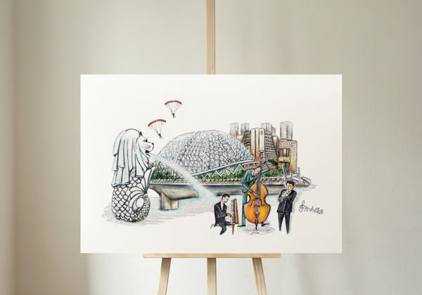 Picture of JTMUSES-PREMIUM archival museum quality canvas (A3) - esplanade-ndp