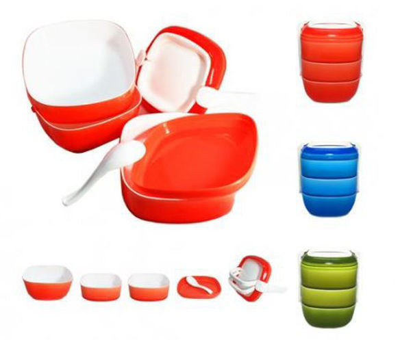 Picture of 3-tier Lunch Box w/Spoon
