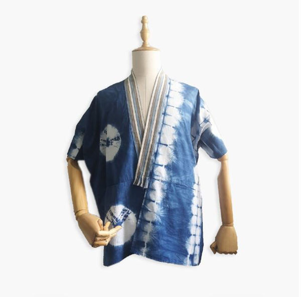 Picture of TIE DYE INDIGOFERA OUTER WITH IKAT