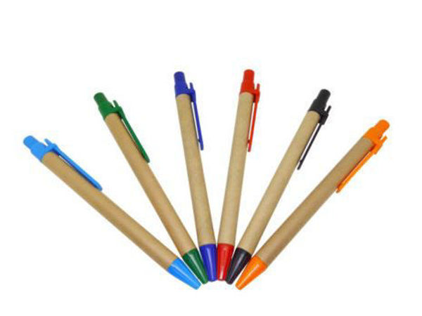 Picture of Recycled Pen with colored clip