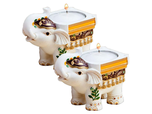 Picture of Elephant Tea Candle Stand