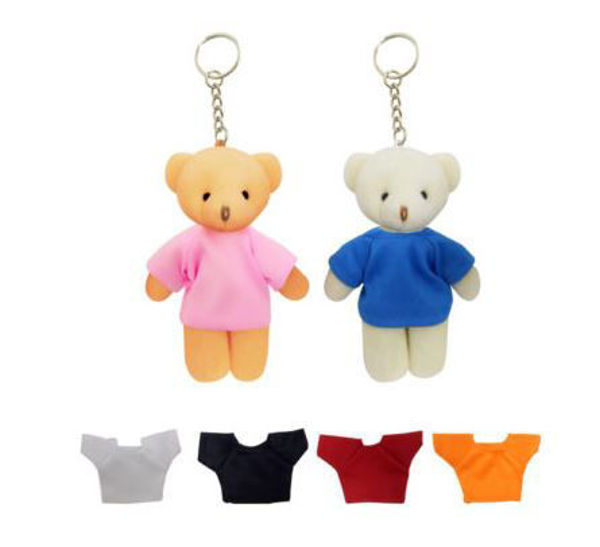 Picture of 13cm Keychain Teddy Bear with tee
