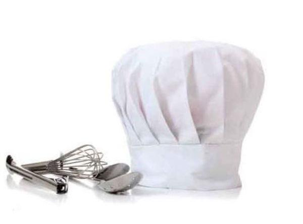 Picture of White Cotton Chef Cap