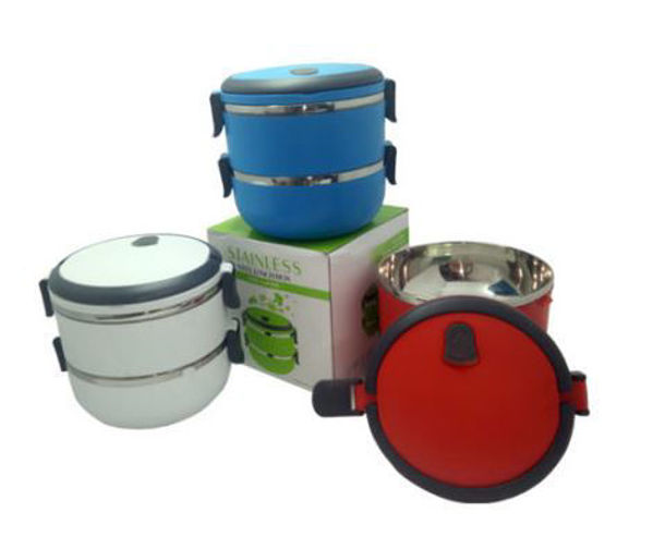 Picture of 2-Tier Stainless Steel Lunch Box