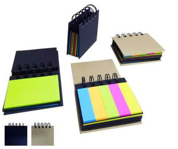 Picture of Wire 'O' Hard Cover Post-It Pad