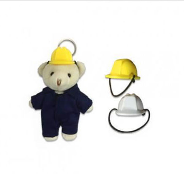 Picture of Mini Construction Helmet for keychain bear