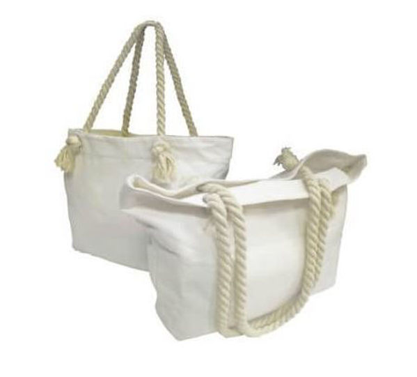 Picture of 12oz Canvas Tote Bag with rope handles