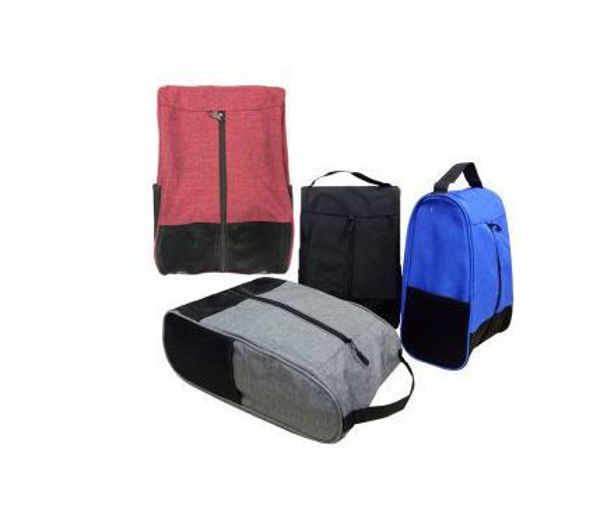 Picture of Melange Nylon Shoe Bag with 2 mesh knit side pockets
