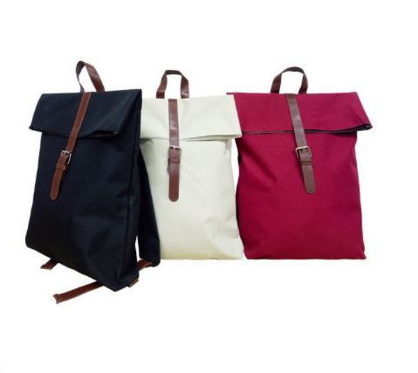 Picture of 300D Nylon Backpack w/inner lining & PU Leather strap