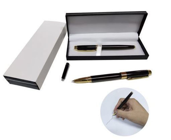 Picture of Metal Fountain Pen w/gold clip with black box