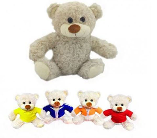Picture of 22cm Teddy Bear in round neck tee