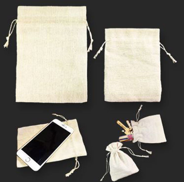 Picture of Jute Drawstring Pouch