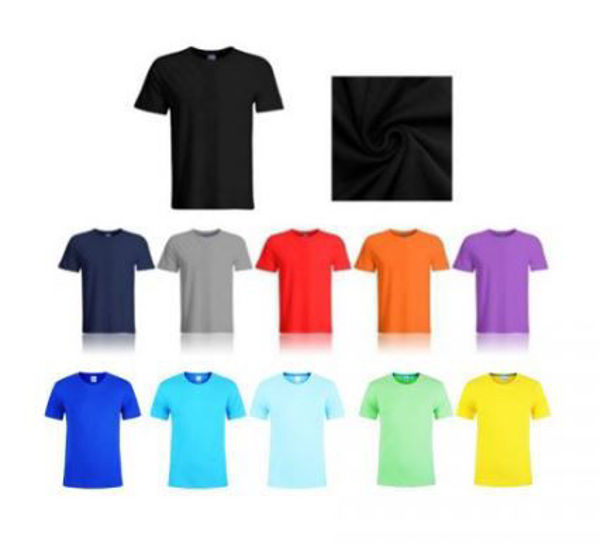 Picture of Plain Cotton Round Neck T-shirt