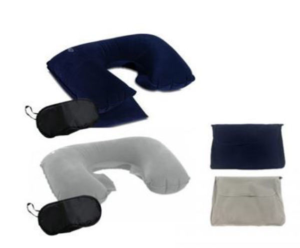 Picture of Inflatable Travel Neck Pillow + Eye mask set