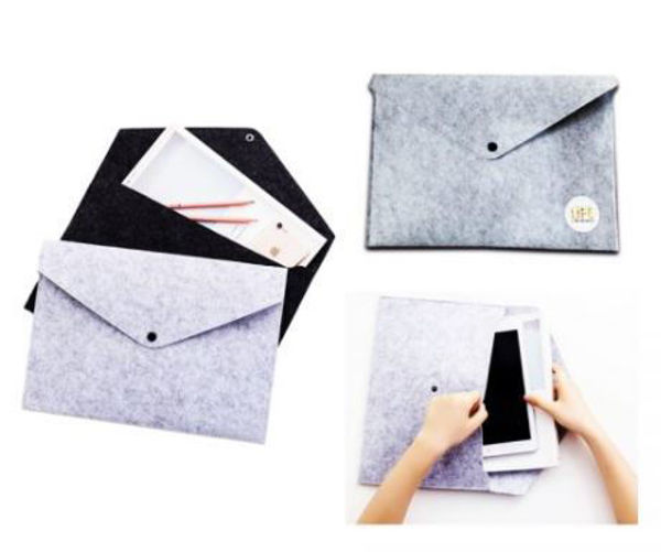 Picture of A4 Felt document bag with button