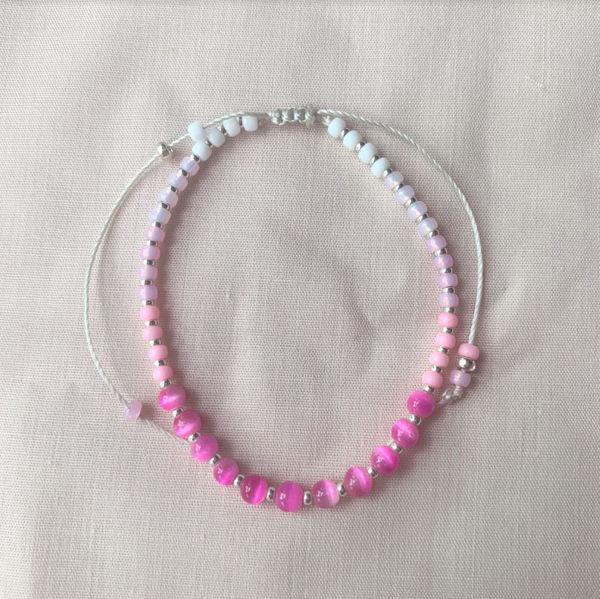 Picture of Handmade Jewellery / Bracelet - Fushcia