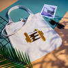Picture of Canvas bag Tote bag | Honeycomb Sandals design | Silk-grafted | Handmade ecofriendly customizable