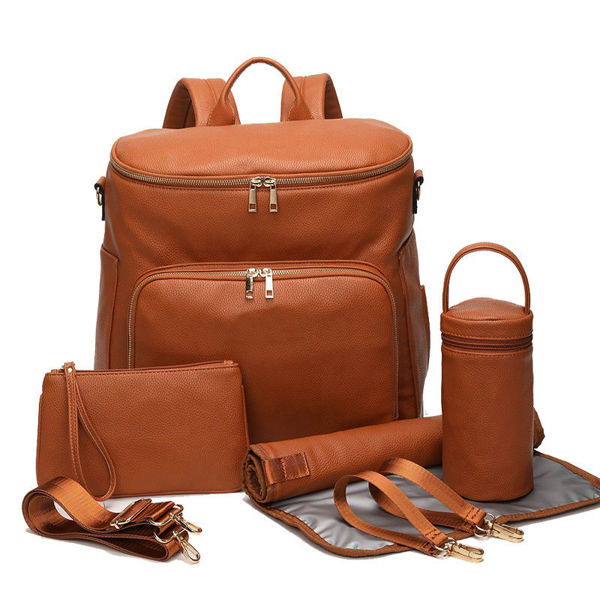 Picture of Leather Multi-purpose Diaper Backpack